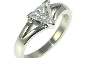 Trilliant Cut Diamond Engagement Rings