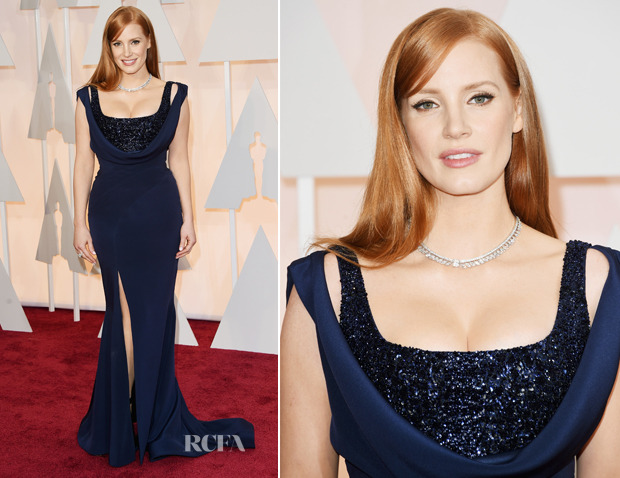 Jessica Chastain 2015 Oscars