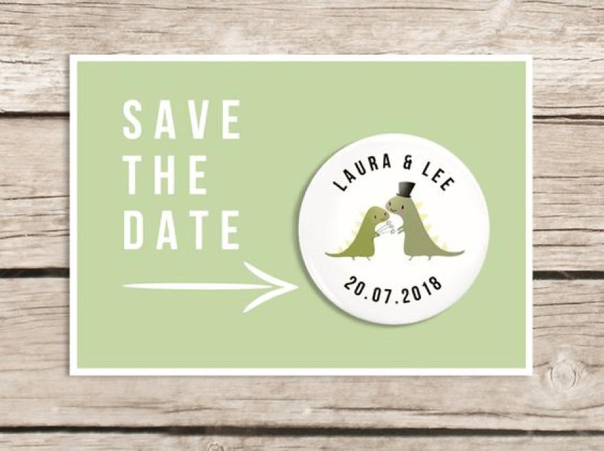 Dinosaur Wedding Invitations: Get Married UNDER A DINOSAUR · ChicMags