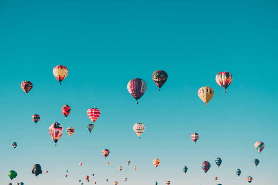 Literally go on Cloud 9 on a hot air balloon